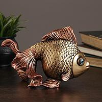 """Копилка """"Золотая рыбка"""" бронза"""