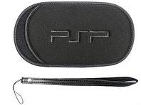 Чехол мягкий с ремешком PSP Slim 2000/3000, черный