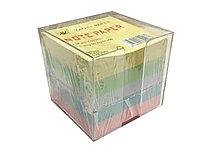 Блок бумаги для заметок с футляром цветные 85*85мм, 750 листов
