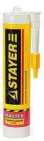 """Герметик STAYER """"MASTER"""" универсальный, силиконовый, белый, 260мл"""