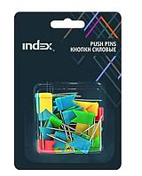 """Кнопки гвоздики силовые INDEX """"Флажки"""" 20 мм, 30 штук в упаковке"""