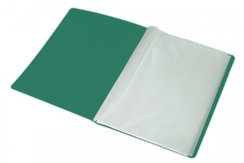 """Папка пластиковая """"Berlingo"""", А4, 500мкм, 40 вкладышей, 21мм зеленый металлик"""
