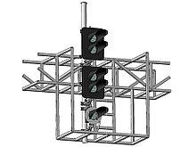 Светофор четырехзначный светодиодный с ПС на мостиках и консолях 17974-00-00