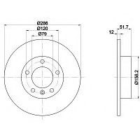 Тормозные диски Bmw E36 1.6-1.8 90-98  (передние, Allied Nippon)