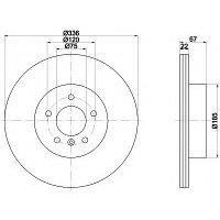 Тормозные диски BMW 3 (E90) объем 2.5-3.5 05-11 (задние, Optimal, D336)