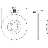 Тормозные диски BMW 3 (E21) объем 1.5-2.0 77-84 (передние)