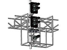Светофор четырехзначный светодиодный с УК и ПС на мостиках и консолях 17975-00-00