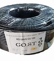 Коаксиальный кабель RG-58A/U CU 100 GO.ST  черный, фото 1
