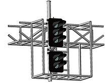 Светофор пятизначный со светодиодными светооптическими системами на мостиках и консолях 17872-00-00