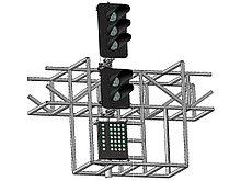 Светофор пятизначный со светодиодными светооптическими системами с МУ на мостиках и консолях 17976-00-00