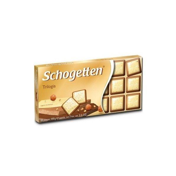 """Молочный шоколад Schogetten Trilogia Noisettes Шоготтен """"Трилогия"""" 100гр (15 шт. в упаковке)"""