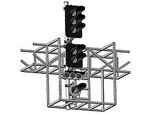 Светофор пятизначный со светодиодными светооптическими системами с УК и ПС на мостиках и консолях 17977-00-00