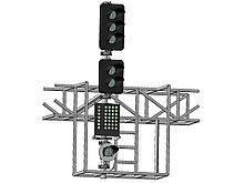 Светофор пятизначный со светодиодными светооптическими системами с МУ и ПС на мостиках и консолях 18040-00-00