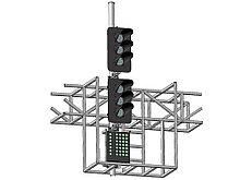 Светофор шестизначный со светодиодными светооптическими системами с МУ на мостиках и консолях 17961-00-00