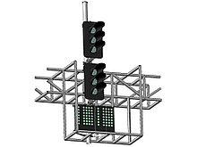Светофор шестизначный со светодиодными светооптическими системами с двумя МУ на мостиках и консолях 17962-00-0