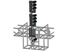 Светофор шестизначный со светодиодными светооптическими системами с МУ и ПС на мостиках и консолях 17963-00-00