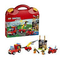 Игрушка Лего Джуниорс (Lego Juniors) Чемоданчик Пожарная команда, фото 1