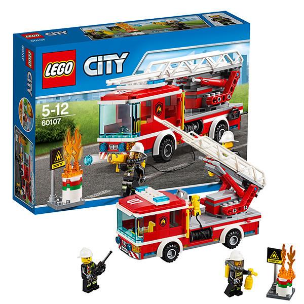 Игрушка Лего Город (Lego City) Пожарный автомобиль с лестницей