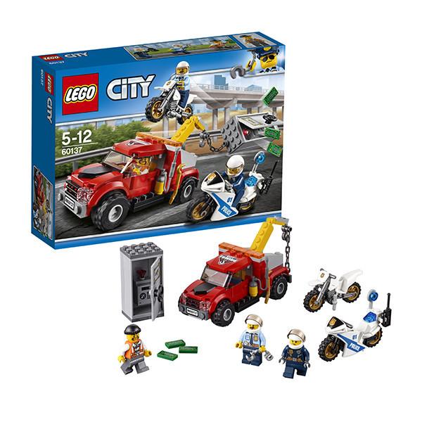 Игрушка Лего Город (Lego City) Побег на буксировщике