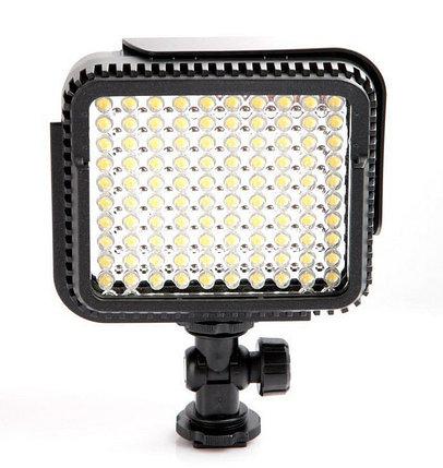Накамерный прожектор LUX-1000 LED-100 +c аккумулятором и зарядным устройством , фото 2