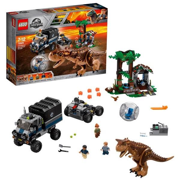 Игрушка Лего Мир Юрского Периода (Lego Jurassic World) Побег в гиросфере от карнотавра™