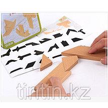 Деревянная головоломка  «Т-дразнилка» в железной банке, фото 3