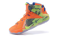 Кроссовки Nike LeBron XII (12) Orange Green Elite Series (40-46), фото 4