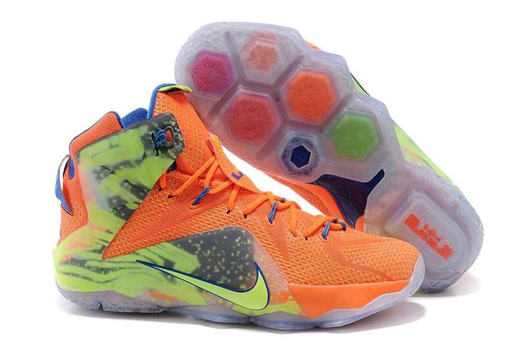 Кроссовки Nike LeBron XII (12) Orange Green Elite Series (40-46)