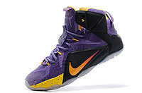 Кроссовки Nike LeBron XII (12) Violet Black Gold Elite Series (40-46), фото 4