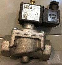 Электромагнитный клапан Eska EVG 1025 (Ø25)  к нему необходим газовый сигнализатор