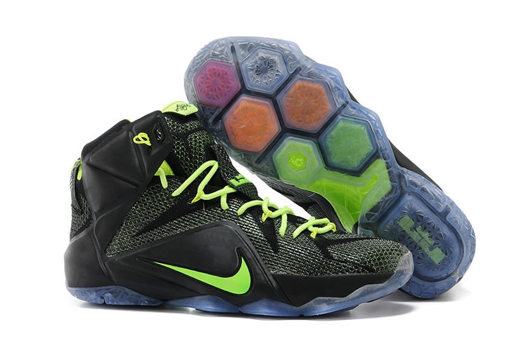 Кроссовки Nike LeBron XII (12) Black Green Elite Series (40-46)