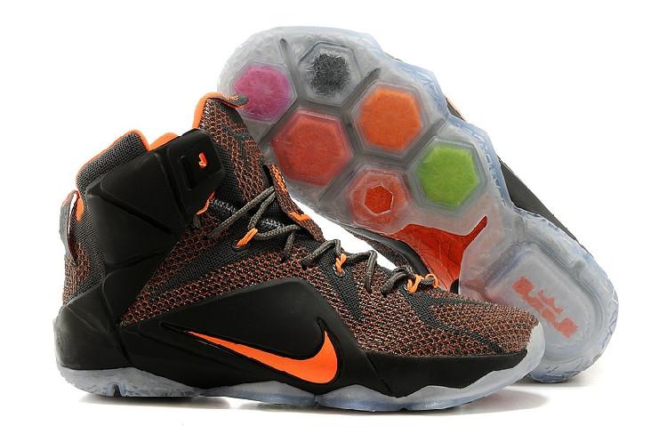 Кроссовки Nike LeBron XII (12) Dark gray Orange Elite Series (40-46)