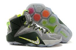 Кроссовки Nikе LeBron XII (12) gray Green Elite Series (40-46)