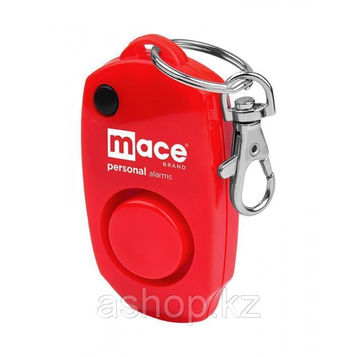 Сигнализатор тревоги персональный Mace Keychain, Сигнализатор: Звуковой 130dB, Цвет: Красный, Упаковка: Блисте