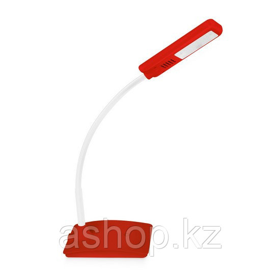Лампа настольная Deluxe DLTL-101R-6W, Регулировка яркости: 3 степени яркости, Цветовая температура: 6400К, Цве