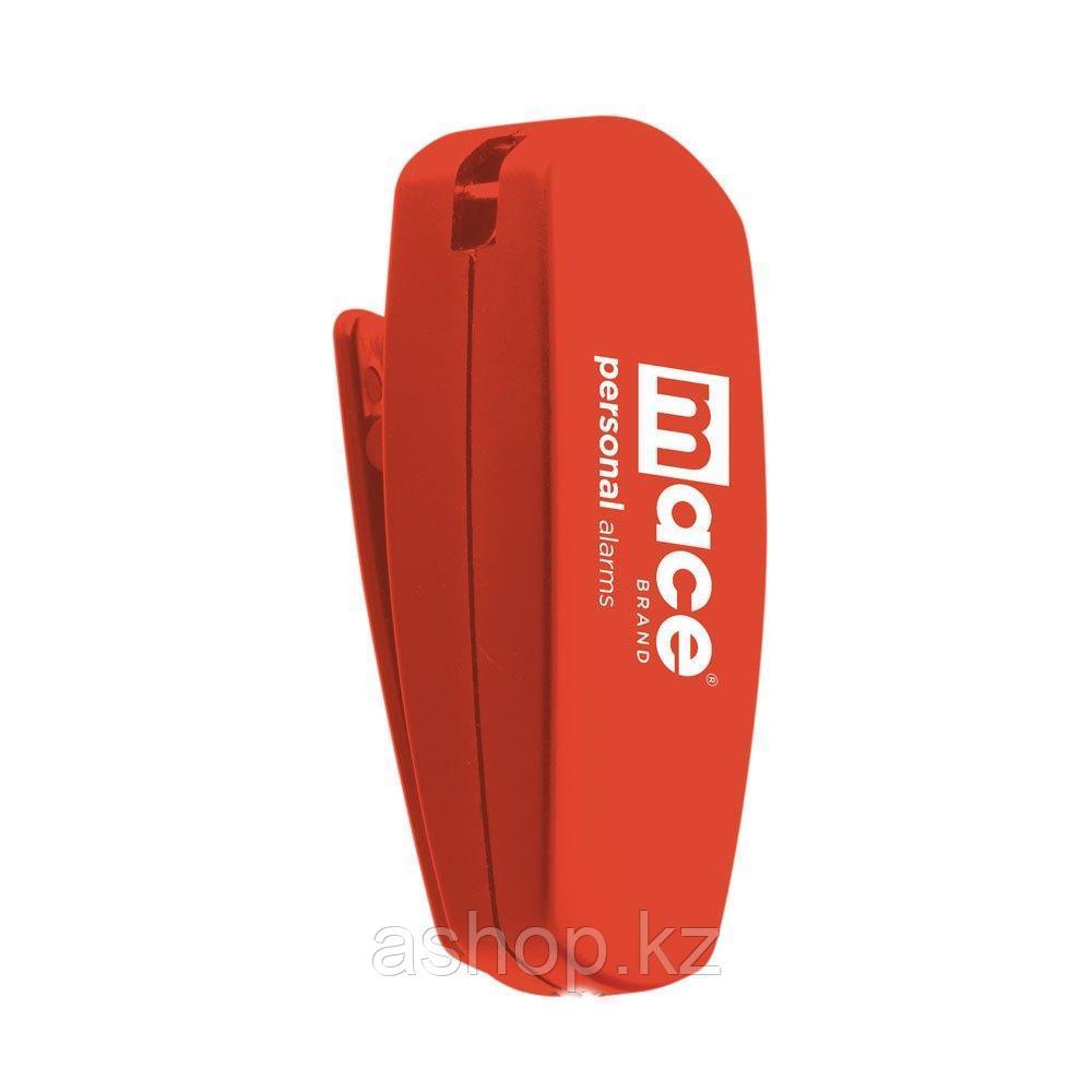 Сигнализатор тревоги персональный Mace Clip, Сигнализатор: Звуковой 130dB, Цвет: Красный, Упаковка: Блистер, (