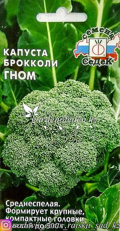 """Семена пакетированные СеДек. Капуста брокколи """"Гном"""", фото 2"""