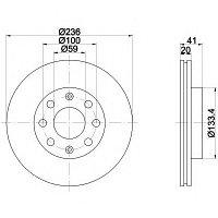 Тормозные диски Chevrolet Aveo 1.2-1.6 (передние)