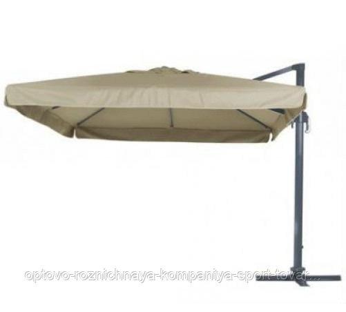 Зонт Banana квадратный (3х3м), песочный с утяжелителями