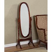 Напольное зеркало овальное в деревянной раме, GC0648