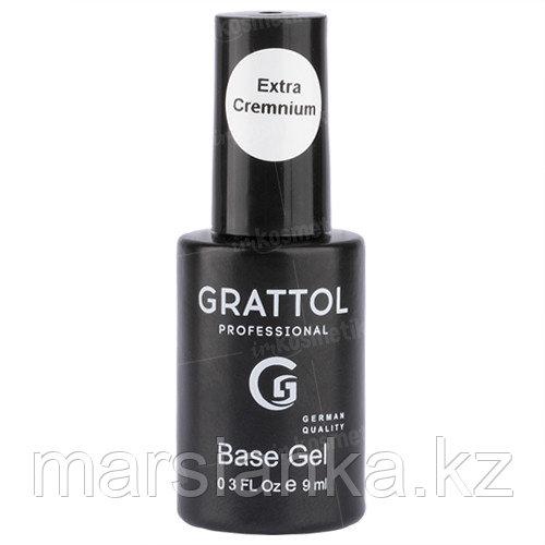 Rubber Base Gel Extra Cremnium Grattol (кремниевая база), 9мл