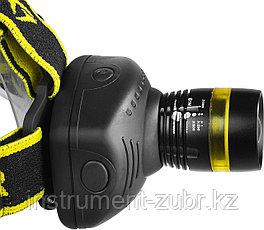 """Фонарь STAYER """"PROFESSIONAL"""" налобный светодиодный, 3Вт(140Лм), регулируемый фокус, 3 режима, 3ААА, фото 3"""