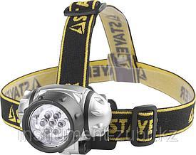 "Фонарь STAYER ""STANDARD"" налобный светодиодный, 7LED, 3 режима, 3ААА"