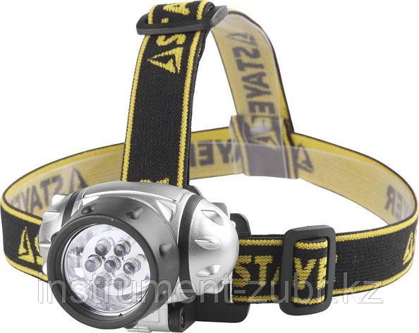 "Фонарь STAYER ""STANDARD"" налобный светодиодный, 7LED, 3 режима, 3ААА, фото 2"
