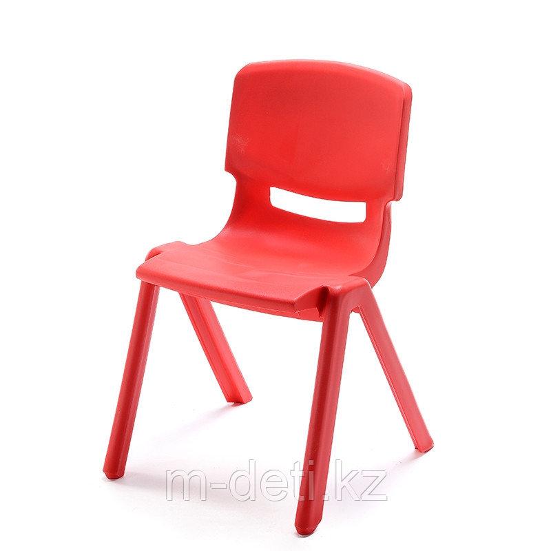 Стульчик детский пластиковый литой Радуга HD203 (красный) HUADONG