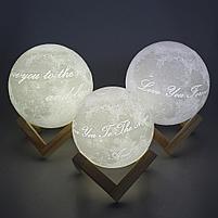 3D Лампа луна, фото 5