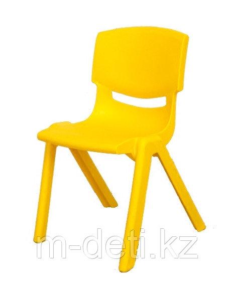 Стульчик детский пластиковый литой Радуга HD204 (жёлтый) HUADONG