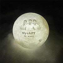 3D Лампа луна, фото 3