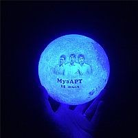 3D Лампа луна, фото 4