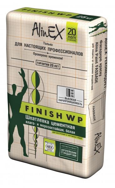 Шпатлевка цементная AlinEX Finish WP